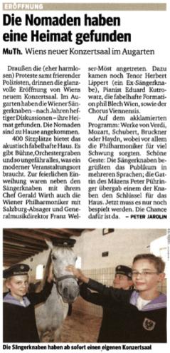 Kurier Kritik von 10.12.2012